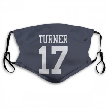 Dallas Cowboys Malik Turner Navy Jersey Name & Number Face Mask