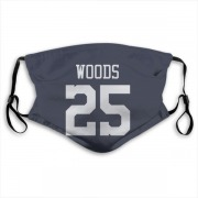 Dallas Cowboys Xavier Woods Navy Jersey Name & Number Face Mask