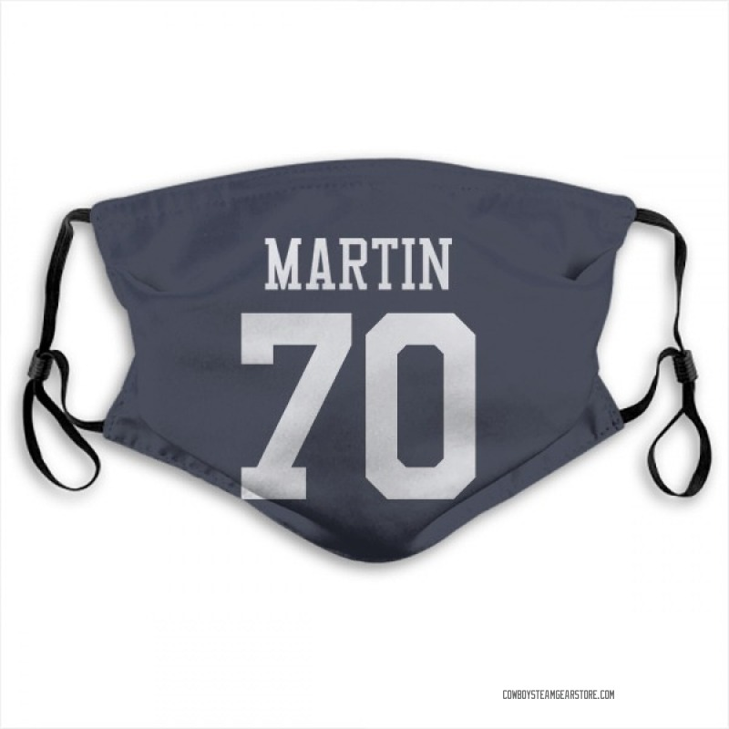 Dallas Cowboys Zack Martin Navy Jersey Name & Number Face Mask