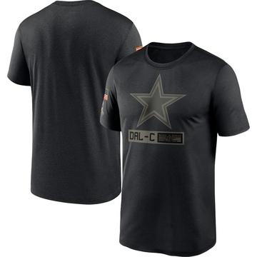 Men's Nike Dallas Cowboys Black 2020 Salute to Service Team Logo Performance T-Shirt -