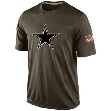 Men's Nike Dallas Cowboys Olive Salute To Service KO Performance Dri-FIT T-Shirt -