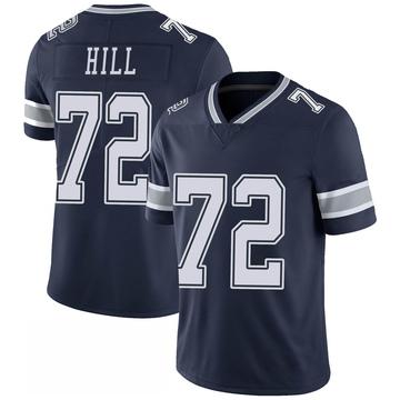 Men's Nike Dallas Cowboys Trysten Hill Navy 100th Vapor Jersey - Limited