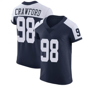 Men's Dallas Cowboys Tyrone Crawford Navy Alternate Vapor Untouchable Jersey - Elite