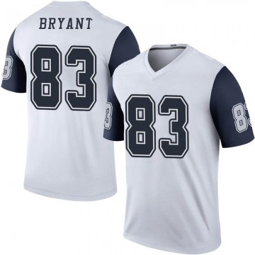 Men's Dallas Cowboys Ventell Bryant White Color Rush Jersey - Legend