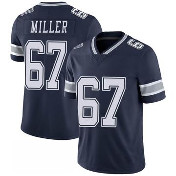 Men's Dallas Cowboys Wyatt Miller Navy 100th Vapor Jersey - Limited