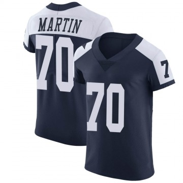 Men's Dallas Cowboys Zack Martin Navy Alternate Vapor Untouchable Jersey - Elite