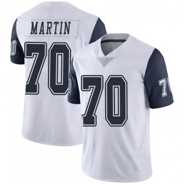 Men's Dallas Cowboys Zack Martin White Color Rush Vapor Untouchable Jersey - Limited