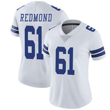 Women's Nike Dallas Cowboys Adam Redmond White Vapor Untouchable Jersey - Limited