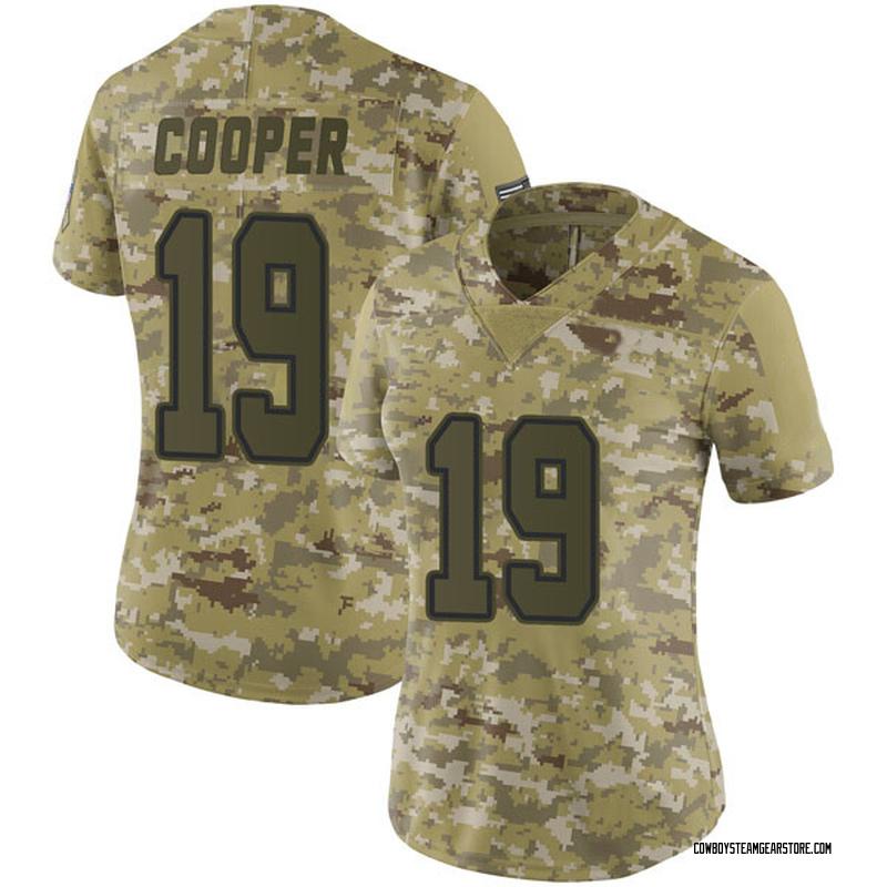 wholesale dealer b44d1 f72b7 Women's Nike Dallas Cowboys Amari Cooper Camo 2018 Salute to Service Jersey  - Limited