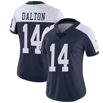 Women's Nike Dallas Cowboys Andy Dalton Navy Alternate Vapor Untouchable Jersey - Limited