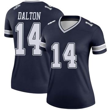Women's Nike Dallas Cowboys Andy Dalton Navy Jersey - Legend