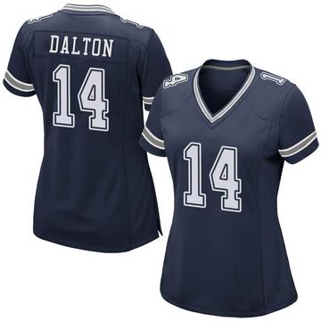 Women's Nike Dallas Cowboys Andy Dalton Navy Team Color Jersey - Game