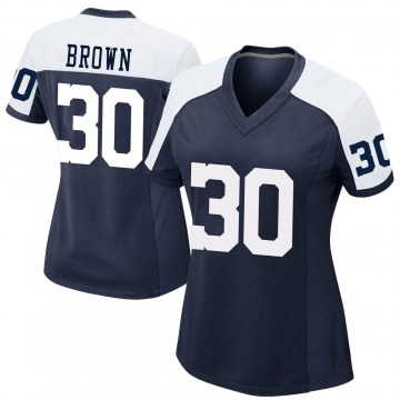 Women's Nike Dallas Cowboys Anthony Brown Brown Navy Alternate Jersey - Game