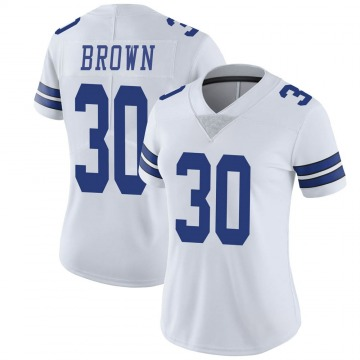 Women's Nike Dallas Cowboys Anthony Brown White Vapor Untouchable Jersey - Limited