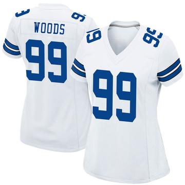 Women's Nike Dallas Cowboys Antwaun Woods White Jersey - Game