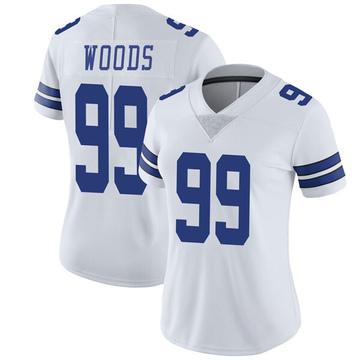 Women's Nike Dallas Cowboys Antwaun Woods White Vapor Untouchable Jersey - Limited