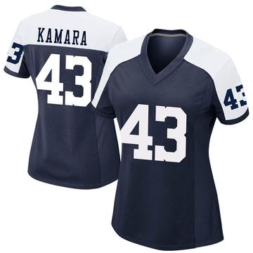Women's Nike Dallas Cowboys Azur Kamara Navy Alternate Jersey - Game