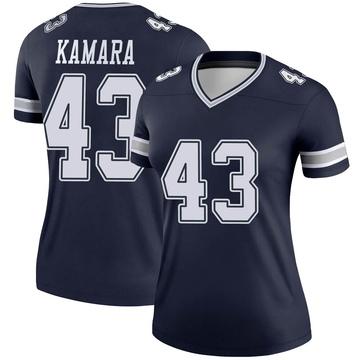 Women's Nike Dallas Cowboys Azur Kamara Navy Jersey - Legend