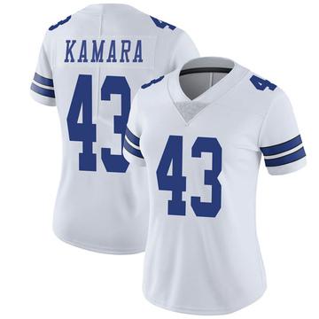 Women's Nike Dallas Cowboys Azur Kamara White Vapor Untouchable Jersey - Limited