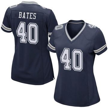 Women's Nike Dallas Cowboys Bill Bates Navy Team Color Jersey - Game