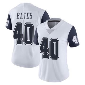 Women's Nike Dallas Cowboys Bill Bates White Color Rush Vapor Untouchable Jersey - Limited
