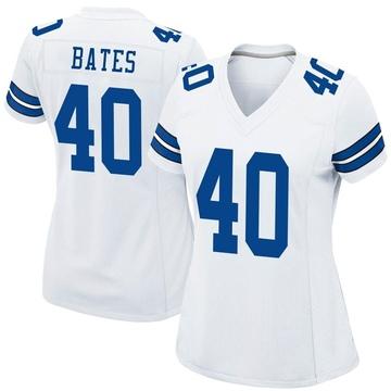 Women's Nike Dallas Cowboys Bill Bates White Jersey - Game