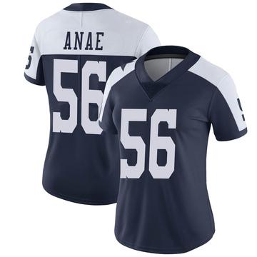 Women's Nike Dallas Cowboys Bradlee Anae Navy Alternate Vapor Untouchable Jersey - Limited