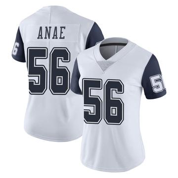 Women's Nike Dallas Cowboys Bradlee Anae White Color Rush Vapor Untouchable Jersey - Limited