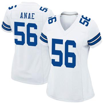 Women's Nike Dallas Cowboys Bradlee Anae White Jersey - Game