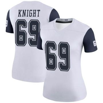 Women's Nike Dallas Cowboys Brandon Knight White Color Rush Jersey - Legend