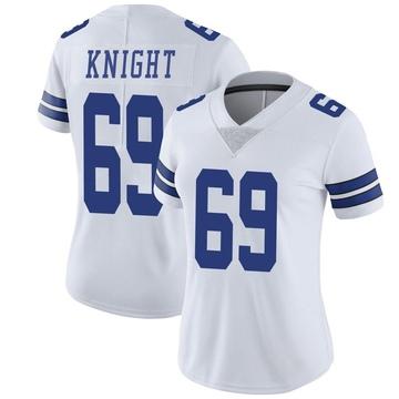 Women's Nike Dallas Cowboys Brandon Knight White Vapor Untouchable Jersey - Limited