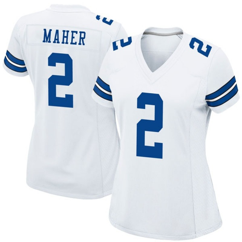 wholesale dealer 7458c b3608 Women's Nike Dallas Cowboys Brett Maher White Jersey - Game