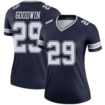Women's Nike Dallas Cowboys C.J. Goodwin Navy Jersey - Legend