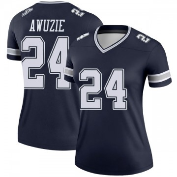 Women's Nike Dallas Cowboys Chidobe Awuzie Navy Jersey - Legend