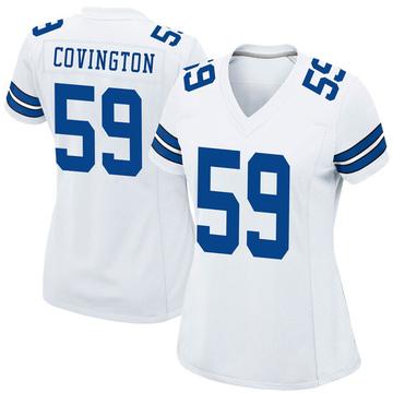 Women's Nike Dallas Cowboys Chris Covington White Jersey - Game