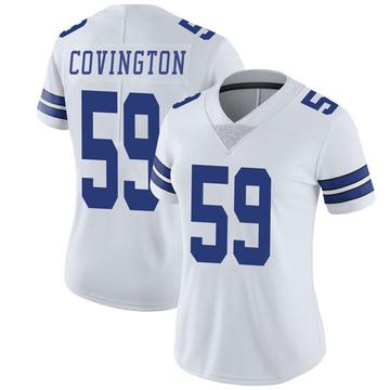 Women's Nike Dallas Cowboys Chris Covington White Vapor Untouchable Jersey - Limited