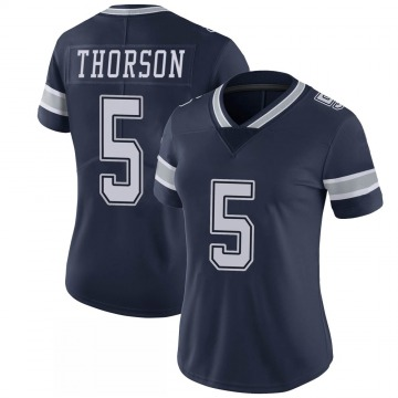 Women's Nike Dallas Cowboys Clayton Thorson Navy 100th Vapor Jersey - Limited