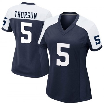 Women's Nike Dallas Cowboys Clayton Thorson Navy Alternate Jersey - Game