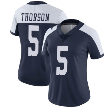 Women's Nike Dallas Cowboys Clayton Thorson Navy Alternate Vapor Untouchable Jersey - Limited