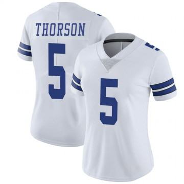 Women's Nike Dallas Cowboys Clayton Thorson White Vapor Untouchable Jersey - Limited