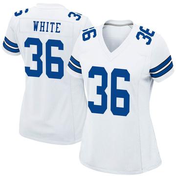 Women's Nike Dallas Cowboys D.J. White White Jersey - Game
