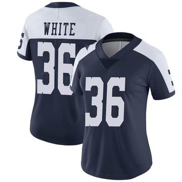 Women's Nike Dallas Cowboys D.J. White White Navy Alternate Vapor Untouchable Jersey - Limited