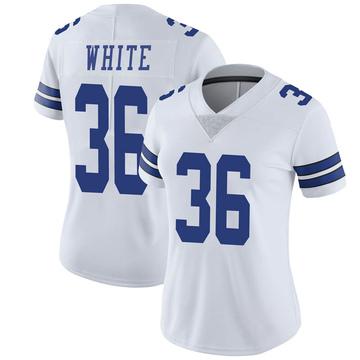 Women's Nike Dallas Cowboys D.J. White White Vapor Untouchable Jersey - Limited