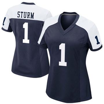 Women's Nike Dallas Cowboys Dalton Sturm Navy Alternate Jersey - Game