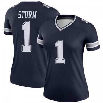 Women's Nike Dallas Cowboys Dalton Sturm Navy Jersey - Legend