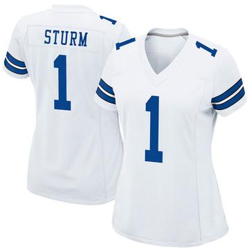 Women's Nike Dallas Cowboys Dalton Sturm White Jersey - Game