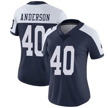Women's Nike Dallas Cowboys Darius Anderson Navy Alternate Vapor Untouchable Jersey - Limited