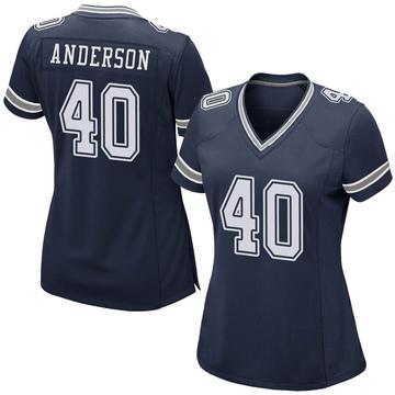 Women's Nike Dallas Cowboys Darius Anderson Navy Team Color Jersey - Game