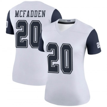Women's Nike Dallas Cowboys Darren McFadden White Color Rush Jersey - Legend