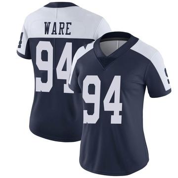 Women's Nike Dallas Cowboys DeMarcus Ware Navy Alternate Vapor Untouchable Jersey - Limited